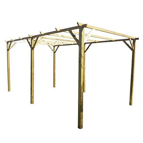 Galleria fotografica Evergreen Pergola doppia pergolato in legno nordico 300x600 giardino EG52065