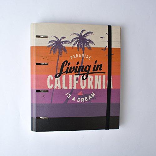 Grupo Erik Editores California - Carpeta con 4 anillas troquelada, 32 x 27.5 cm