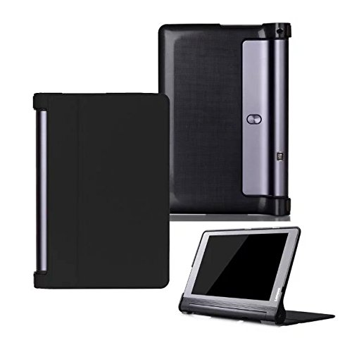 Kepuch Custer Lenovo Yoga Tab 3 Plus 10.1 YT-X703 Hülle - Shell Schutzhülle PU Tasche Smart Case Cover für Lenovo Yoga Tab 3 Pro 10.1 YT3-X90L YT3-X90F - Schwarz