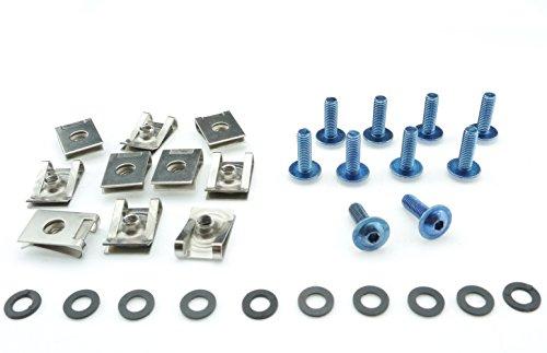 Tech-Parts-Koeln Motorrad Auto Roller Schrauben Verkleidung Klemmen M5x16mm Edelstahl V2A blau (Roller Klemmen Blau)