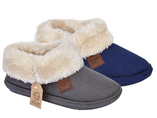 fd9d18ed76cd Ladies Chiltern Jo   Joe Faux Suede Sheepskin Fur Collar Fleece ...