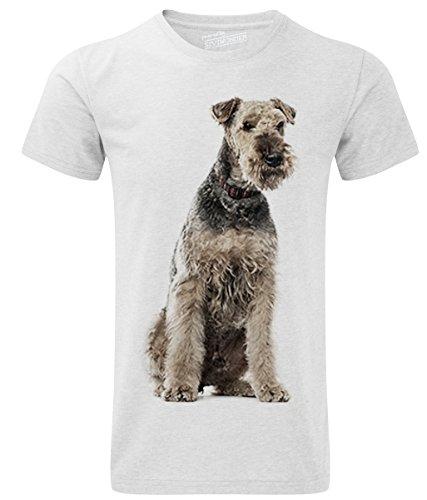 Siviwonder Unisex T-Shirt AIREDALE TERRIER Hunde White
