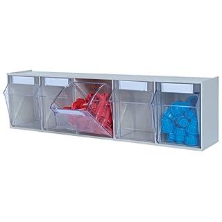 hünersdorff Klarsichtbehälter/Aufbewahrungsbox / Riegel für ein optimales MultiStore-Lagersystem im Baukastenprinzip aus hochschlagfestem Kunststoff (PS), Nr. 5
