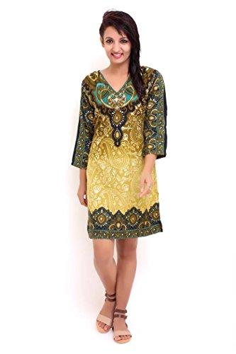 ladies-new-casual-tribal-print-evening-ethnic-tunic-kaftan-top-size-10-18-16-21774-green