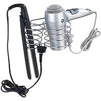 Wenko 22220100 - Porta asciugacapelli e piastra per capelli, in acciaio cromato, 12 x 20 x 12 cm - Arredamento - Confronta prezzi