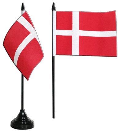 Tischflagge / Tischfahne Dänemark + gratis Aufkleber, Flaggenfritze