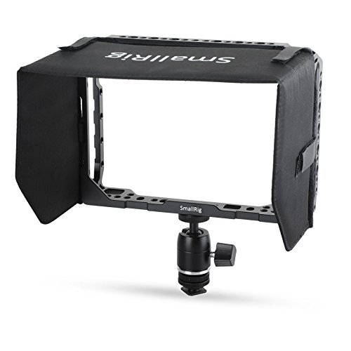 "SMALLRIG Monitor Cage Kit für Blackmagic Video Assist (BMVA) 7"" Monitor mit Sunhood, Ballhead Stativ und HDMI-Kabelklemme - 1988"