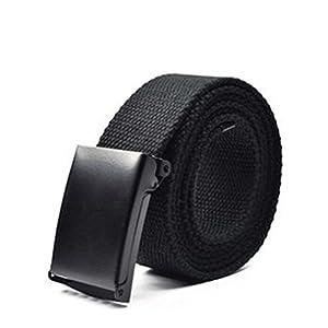 VBIGER Cinturón Lona Ocasional para Hombre,125cm