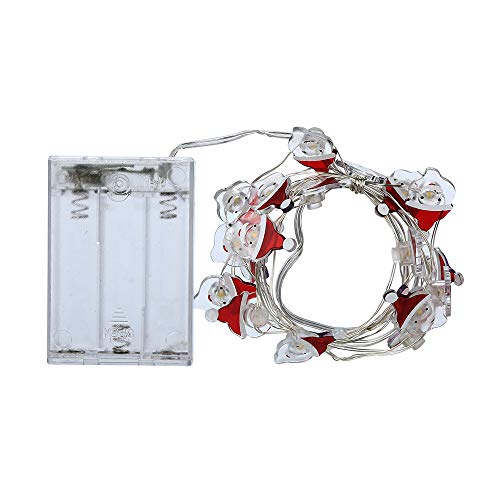 Kingko® Weihnachtsbeleuchtung, 2M 20 LED Globe Lichterkette, Batteriebetrieben,Dekoration für Weihnachten,Halloween,Hochzeit,Party,Zuhause sowie Garten,Balkon,Terrasse,Fenster(Warmweiß) (B)