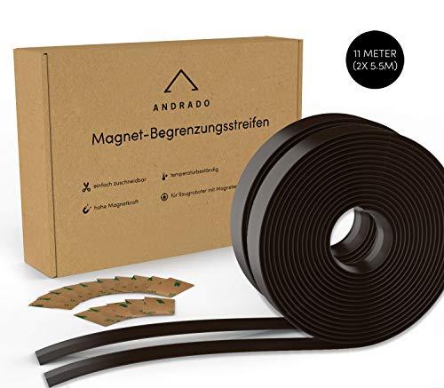 11m (2er-Set) Saugroboter Magnetband (mit Klebestreifen) - XXL Begrenzungsstreifen für Staubsauger-Roboter - u.a. kompatibel mit Xiaomi Roborock, Neato, Vorwerk, Tesvor von ANDRADO