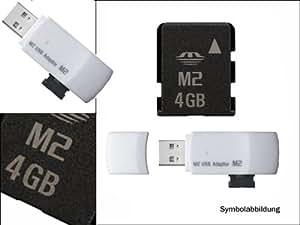 Sony Ericsson Z530i Memory Stick Micro (M2) 4Go Carte mémoire + USB adaptateur-Garantie 3 ans