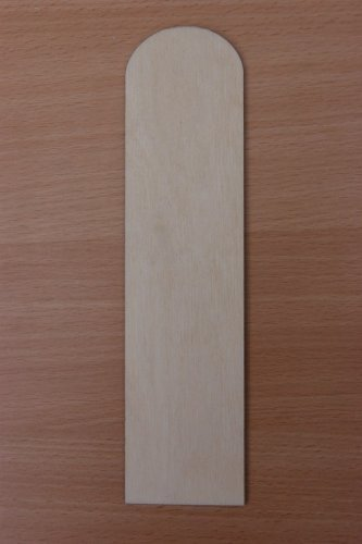 (BP) 10 x Piatto IN LEGNO SEGNALIBRI Non verniciati Forme Etichette Per Regalo DECOUPAGE ARTISTICA ARTIGIANALE