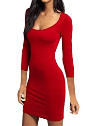 Deep Scoop Neck Bodycon Jersey Mini Dress