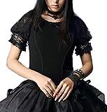 PyonPyon Shirt-Bluse Kurzarm Transparente Ärmel Gothic Lolita Manga Burlesque (XL)