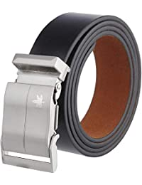 RV Collection Men's Genuine Leather Belt, (1 Year Guarantee) - belts for mens - belts for men casual stylish leather- belts for men formal branded, mens belt, black belt, formal belt with army buckle