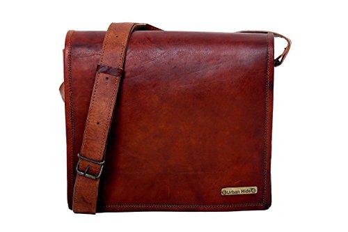 Handgefertigte Original Leder Messenger Laptop Tasche - Imported Ledertasche aus Indien - Gratis Überraschungsgeschenk Tablet And Laptop Combo