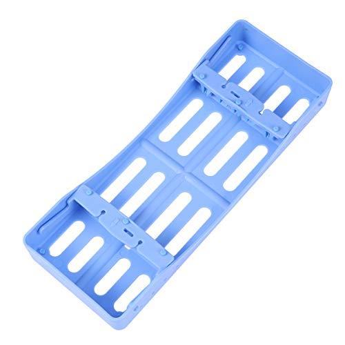 HEALLILY 1pc Plastic Dental Kassetten Dental Instrument Kassetten Dental Tray (Blau) Blau Tray