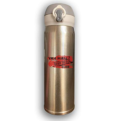 LZHANDA Thermosflasche,Vakuumisolierte Trinkflasche,Wasserflasche, Bounce Cover Designed Man Never to Old,Leak-Proof Vaccum Cup,Travel Mug with Stainless Water Bottle,Sports Drinking Bottle Fashion