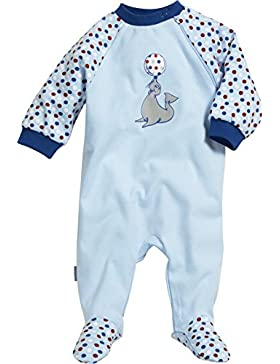 Playshoes Unisex Baby Schlafstrampler Schlafoverall Interlock Seelöwe