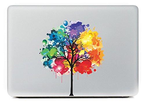 MacBook Aufkleber, Chickwin Creative Pattern dekorativ Film Notebook Sticker Skin personalisierte Aufkleber MacBook Decal (13'', Gemalter Baum)