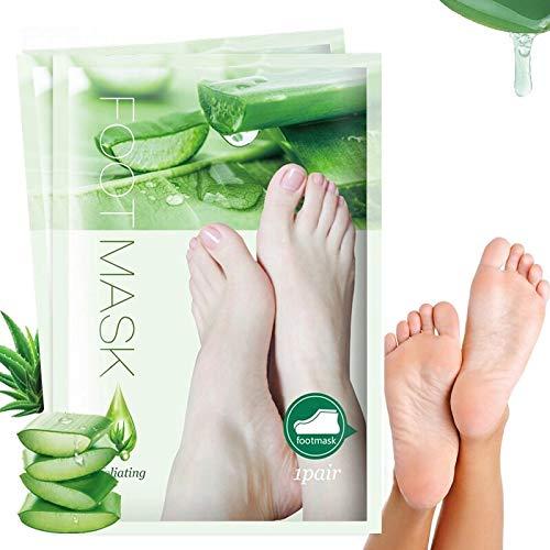 Shea-butter-peeling Fuß Peeling (Fußmaske mit Peeling Effekt, pflegend mit Aloe Vera, Rundum-Sorglos-Paket, Foot Mask Peeling Effekt, Hornhautentfernung, Exfoliating)