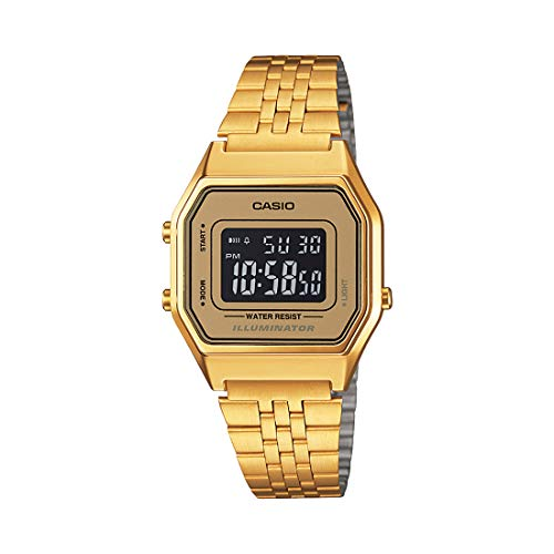 Casio Digital Gold Dial Women's Watch-LA680WGA-9BDF (D127)