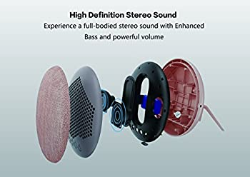 Soundance 12w Wireless Stereo Home Bluetooth Speaker With 3.5 Mm Audio Jack, Up To 10 Hours Playtime & 15m Bluetooth Range, Support Tfmicro Sd Card (Purple) 4