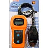 Xtool U480 CAN-BUS OBD2 Scanner Car Diagnostics Tool Engine Code Reader With LCD Display for OBD II Vehicles - Orange