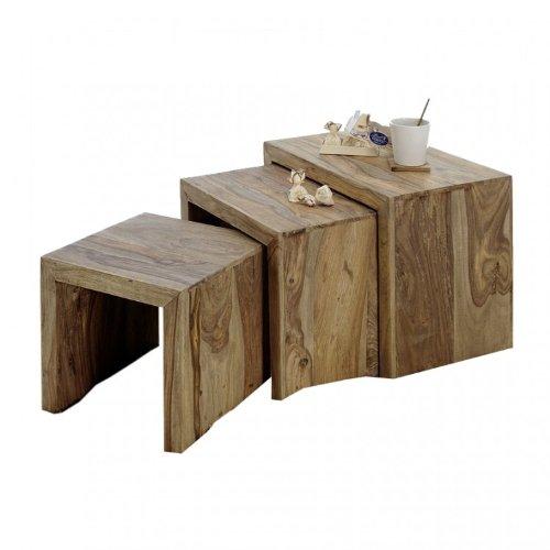 YOGA 6553 Satztisch, Holz, 35 x 55 x 45 cm, natur