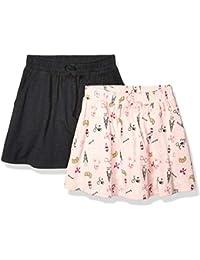 Marchio Amazon - Spotted Zebra 2-Pack Knit Twirl Scooter Skirts Bambina