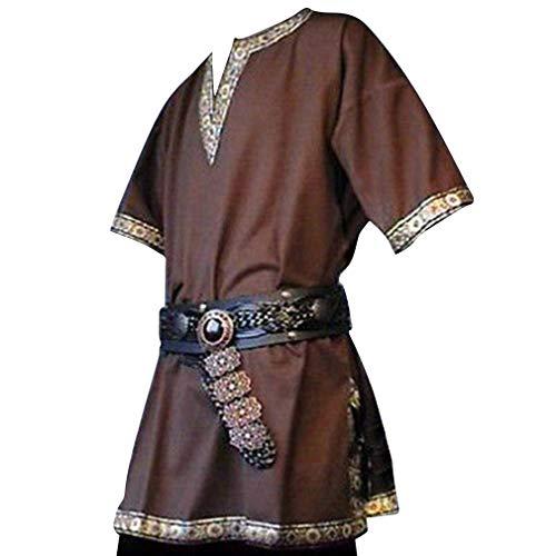 WEIMEITE Mittelalterliche Renaissance-Kostüme Herren Adlige Tunika Wikinger Aristokrat Ritter Krieger Halloween Cosplay Kostüme ohne Gürtel