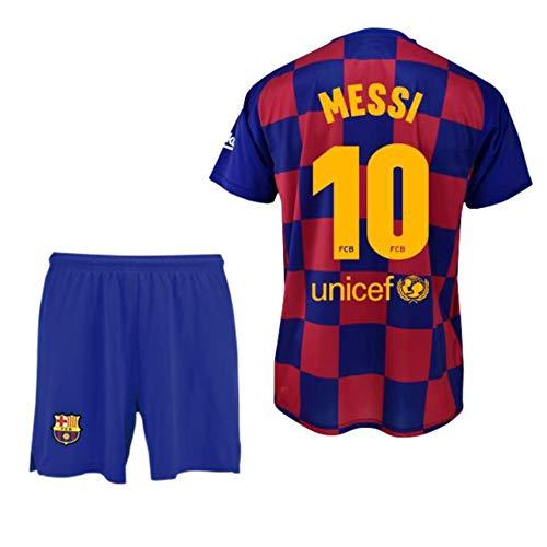 Conjunto Camiseta y pantalón 1ª equipación FC. Barcelona 2019-20 - Replica Oficial con Licencia - Dorsal Messi - Niño Talla 2