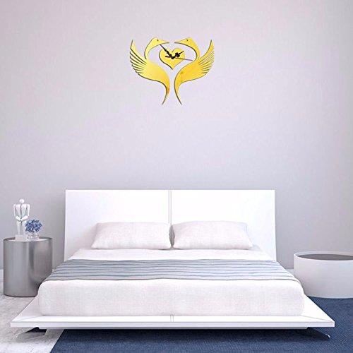 WPEWEI-die wand im wohnzimmer uhr wanduhr inneneinrichtungsgegenstände spider spiegel 3d dreidimensionale wall aufkleber tabelle - Auto Stereo-spider
