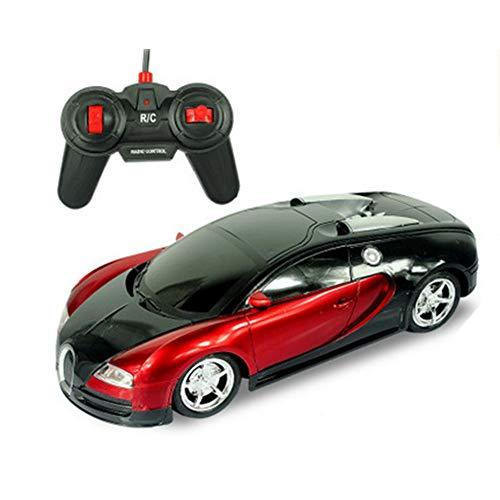 FairOnly Coole elektrische ferngesteuerte Rennsportwagen Spielzeug für Kinder Jungen Bugatti rot 1:12