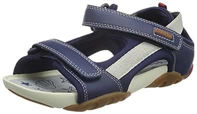 camper ous kids sandales bout ouvert gar on bleu bleu marine 25 eu chaussures. Black Bedroom Furniture Sets. Home Design Ideas