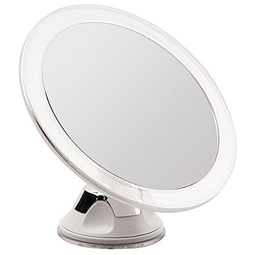 Kosmetex Spiegel, mit 5-fach Vergrößerung, Ø 12 cm, Kunststoff, Wandhalterung - Saugnapf
