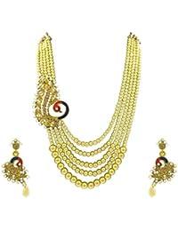 Designer Enclave Alloy Gold Color Necklace Set For Women DE-005