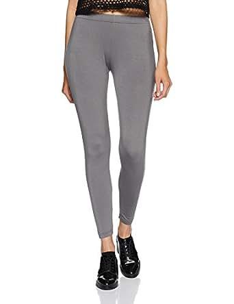 U.S.Polo Assn. Women's Slim Pants (UWKP0007_Steel Grey_Medium)