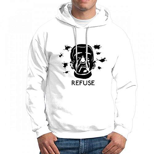 qingdaodeyangguo Sweatshirt Graphic Refuse That Blind Fold Mens Hoodie