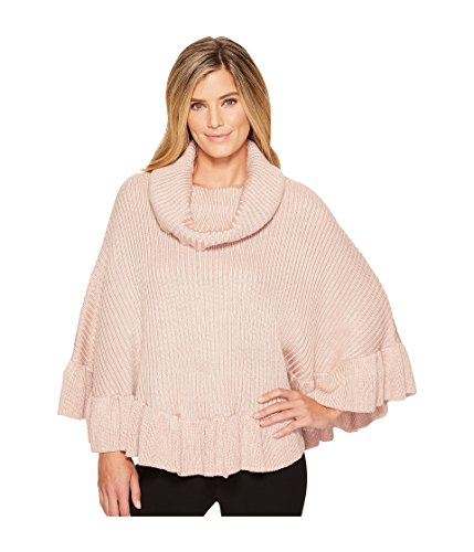 Cowl Cowl Neck Poncho (Ivanka Trump Damen Pull Over Heavy Cowl Neck ARMLESS Poncho Sweater Pullover, Heather Ballet, X-Small)