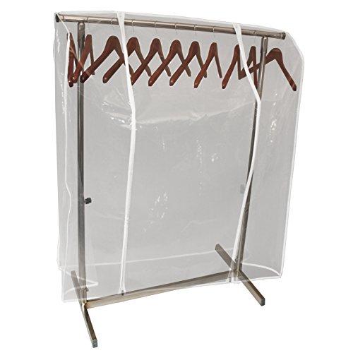 Transparente Abdeckhaube für Konfektionsständer - Doppel-Reißverschluss Länge 120150180cm (120cm)