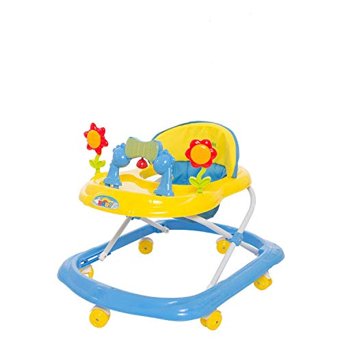 GoodLuck Baybee Bonnie Walker Cum Rocker | Music & Light Function | Easy to Fold, Fun Toys & Activities for Baby (Yellow)