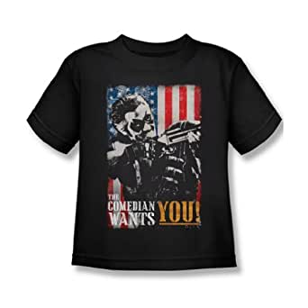 The Watchmen - Juvy The Comedian Wants You T-Shirt In Black, Small (4), Black