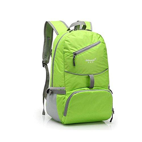 HTRPF Schulter Reise faltbare wasserdichte tragbare leichte Männer und Frauen Sporttasche Green