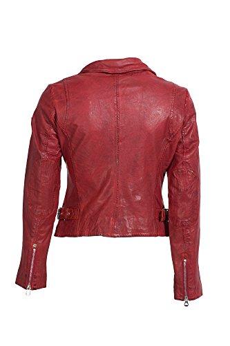 Gipsy by Mauritius - Blouson - Veste en cuir - Femme Rouge