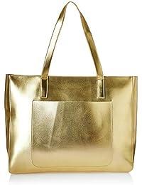 2acc55b8e462 Kanvas Katha Metallic Pu Faux Leather Fatty Women s Tote Bag (Gold)