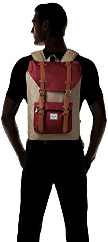 Sac à dos Herschel Little America Mid-Volume Routes/Black brindle/windsor wine