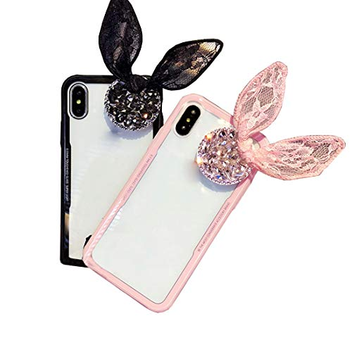 Shiduoli Das Etui ist kompatibel mit dem iPhone X Case, dem ultradünnen transparenten TPU Case, Kickstand (Color : Pink, Size : iPhone 6/6s)