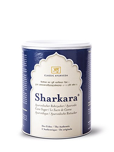 """Sharkara - Der Echte, Ayurvedischer Rohrzucker, Königszucker, in der indischen Sonne getrocknet und """"gereift"""",1er Pack (1 x 500 g Dose) von Amla Natur"""