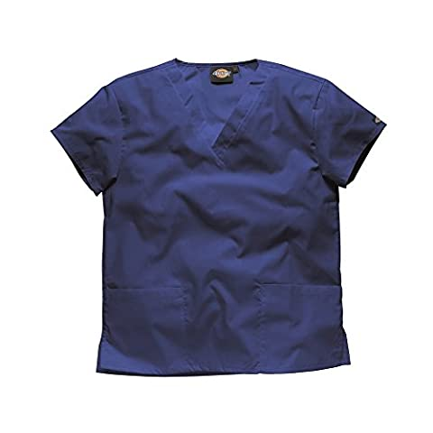Dickies V Neck Tunic / Unisex Medical Wear (M) (Navy